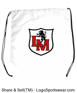 White Cinch Bag Design Zoom